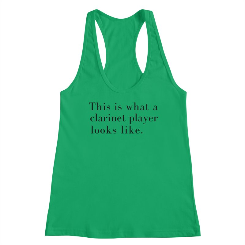 This is what a clarinet player looks like. Women's Tank by Listening to Ladies's Artist Shop