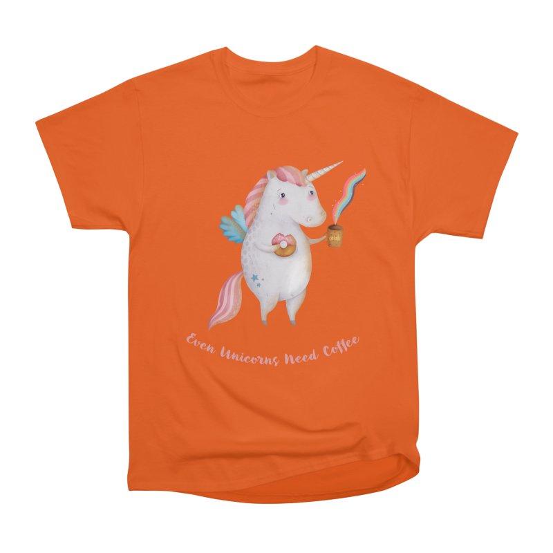 Unicorns Need Coffee Women's T-Shirt by Literary Swag