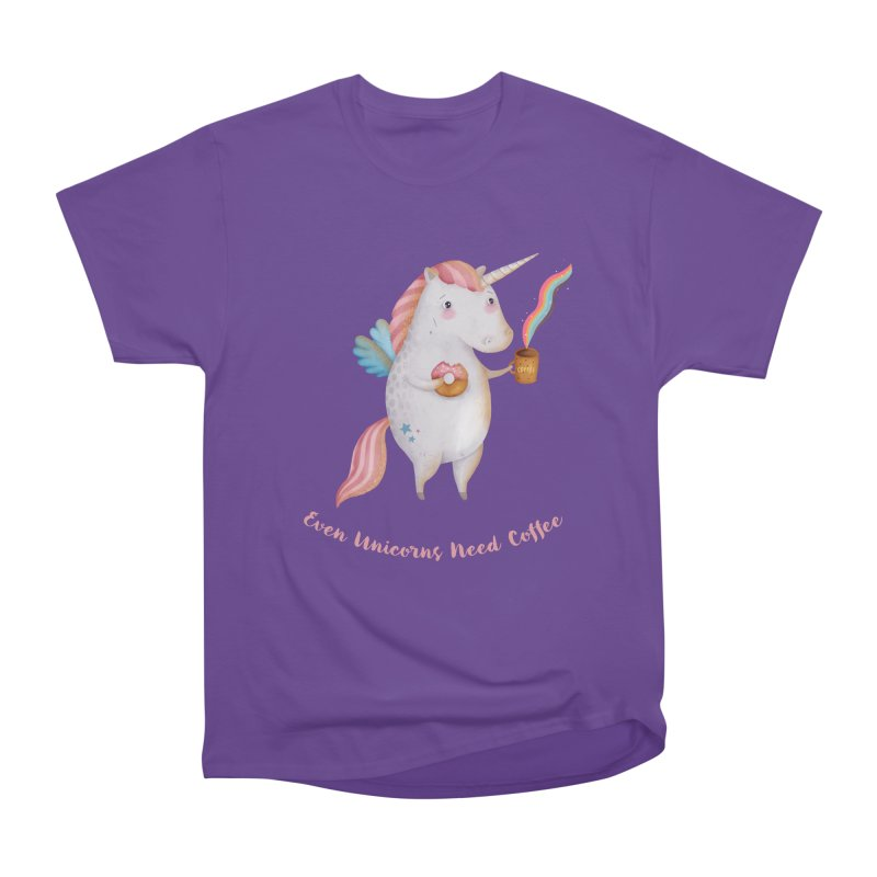Unicorns Need Coffee Men's T-Shirt by Literary Swag