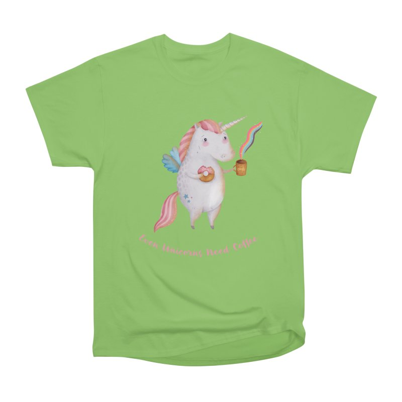 Unicorns Need Coffee Men's T-Shirt by Literary Swag