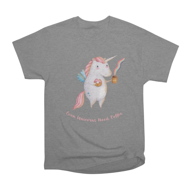 Unicorns Need Coffee Women's T-Shirt by Literary Swag