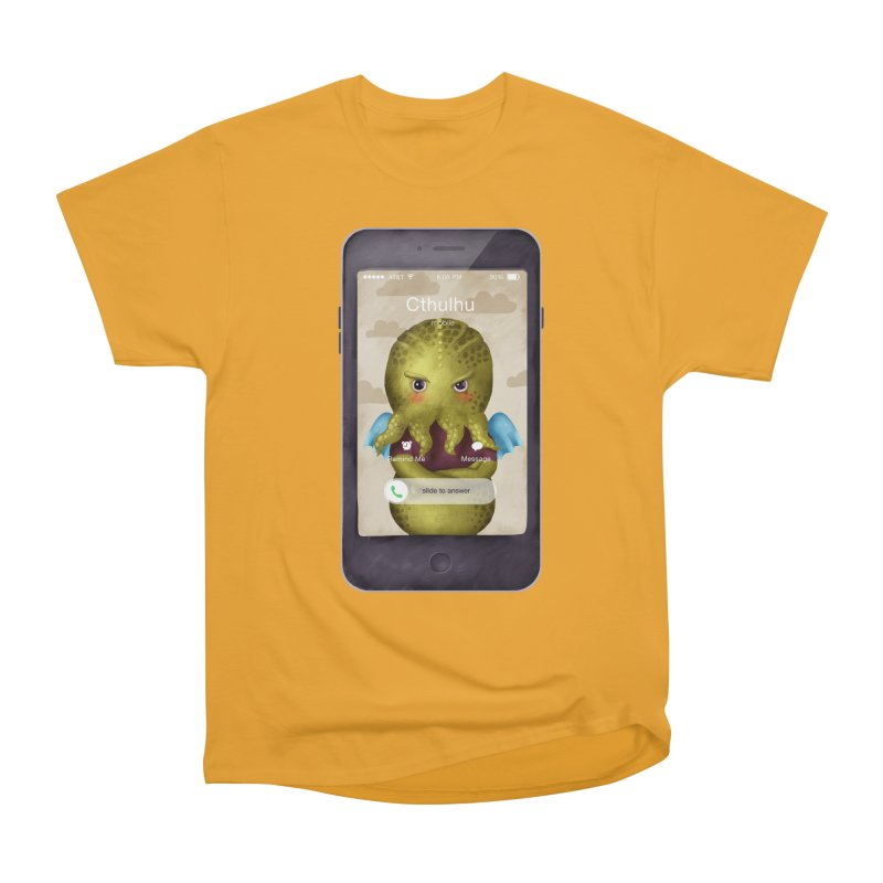 The Call Of Cthulhu Men's T-Shirt by Literary Swag