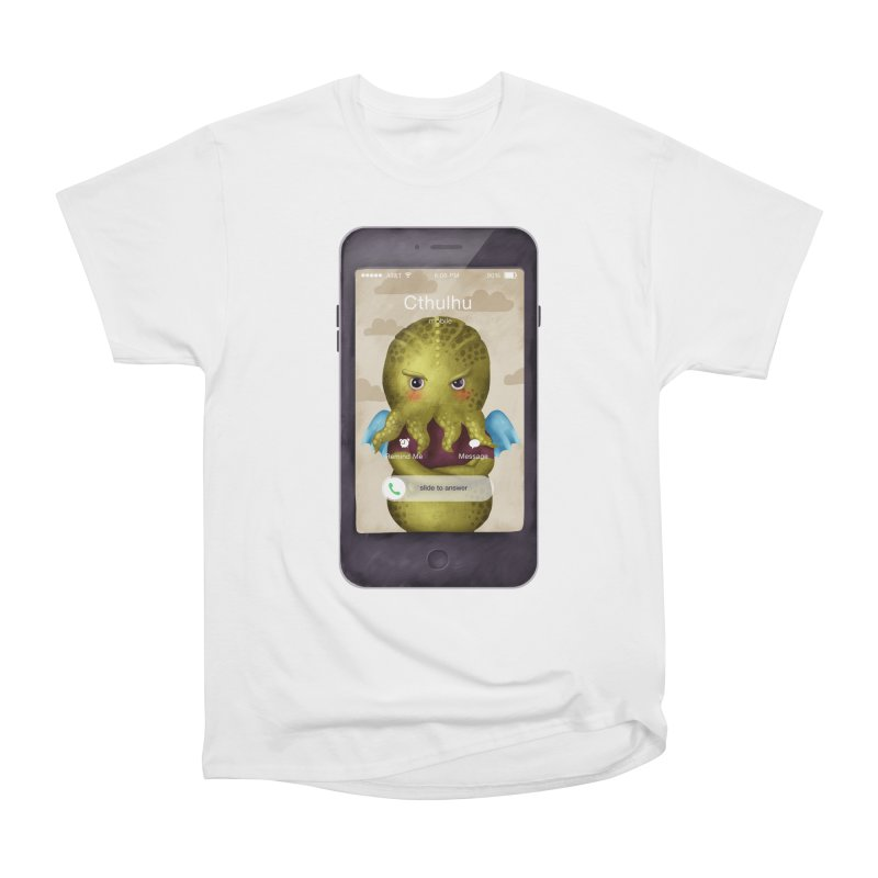 The Call Of Cthulhu Women's Heavyweight Unisex T-Shirt by Literary Swag