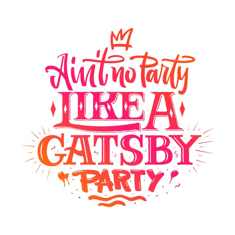 Ain't No Party Like A Gatsby Men's V-Neck by Literary Swag