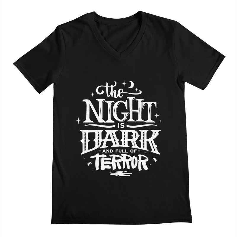 The Night Is Dark And Full Of Terrors Men's V-Neck by Literary Swag