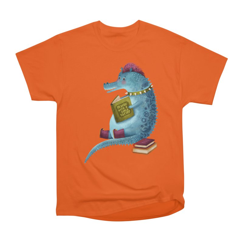 Dragon With The Girly Tattoo Men's Classic T-Shirt by Literary Swag