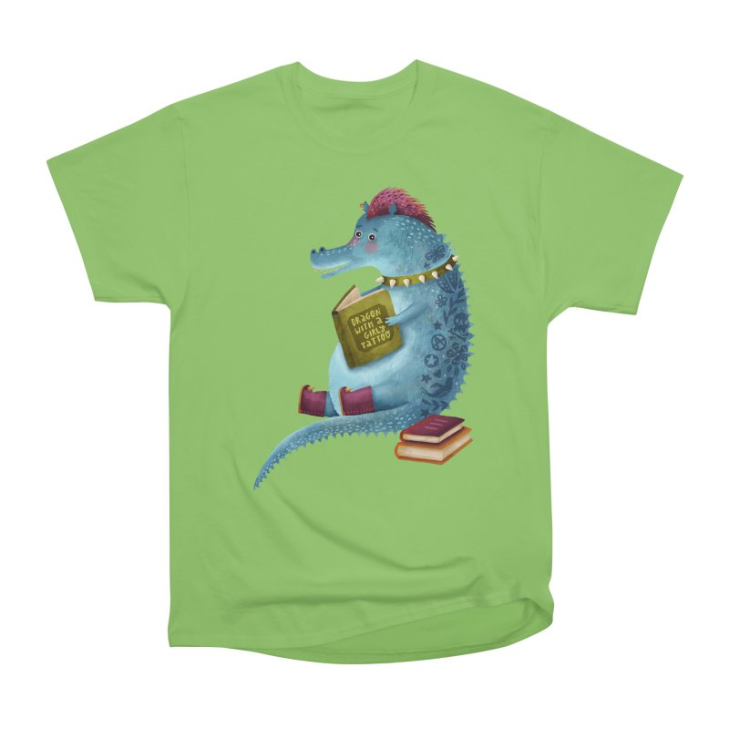 Dragon With The Girly Tattoo Men's T-Shirt by Literary Swag
