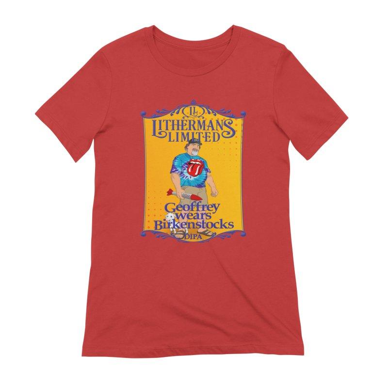 Geoffery Wears Birkenstocks Women's Extra Soft T-Shirt by Lithermans Limited Print Shop