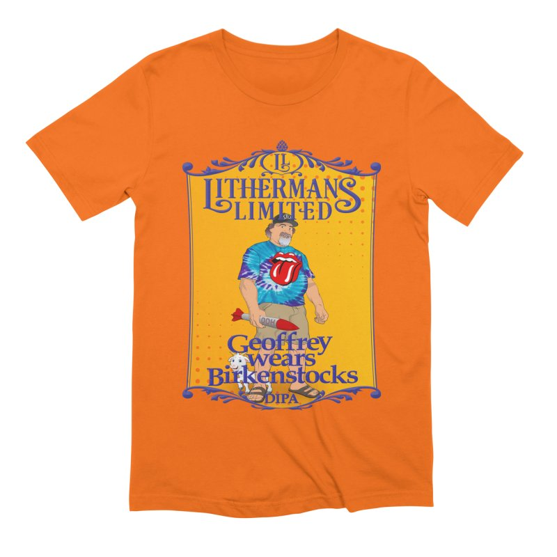 Geoffery Wears Birkenstocks Men's Extra Soft T-Shirt by Lithermans Limited Print Shop
