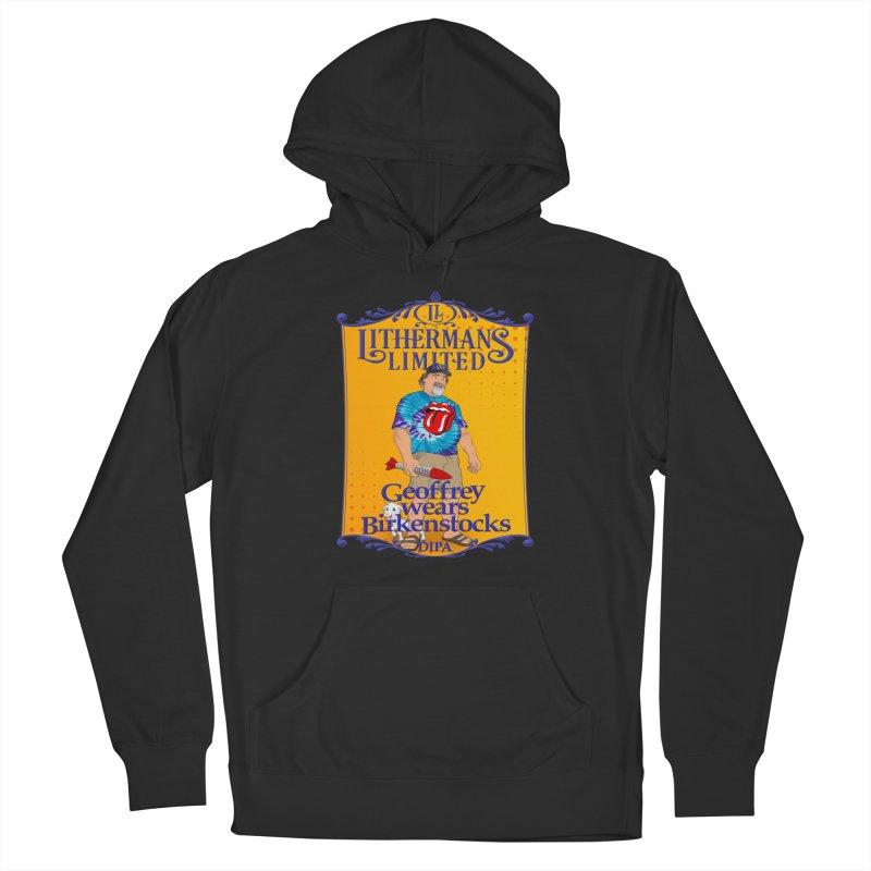 Geoffery Wears Birkenstocks Men's French Terry Pullover Hoody by Lithermans Limited Print Shop
