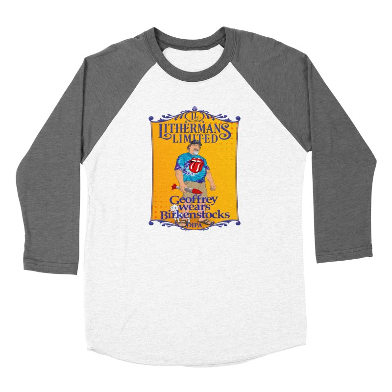 Geoffery Wears Birkenstocks Women's Baseball Triblend Longsleeve T-Shirt by Lithermans Limited Print Shop