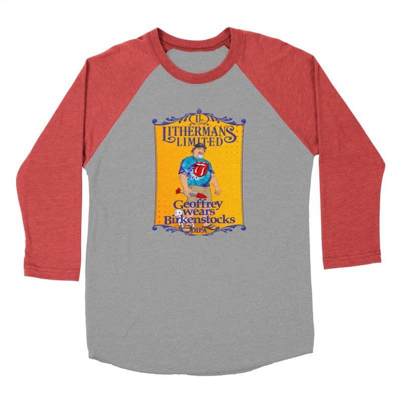 Geoffery Wears Birkenstocks Men's Longsleeve T-Shirt by Lithermans Limited Print Shop