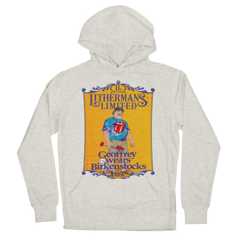 Geoffery Wears Birkenstocks Women's French Terry Pullover Hoody by Lithermans Limited Print Shop