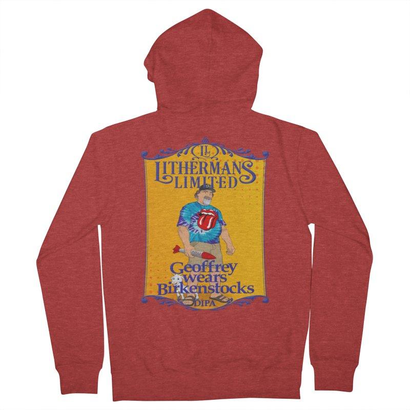 Geoffery Wears Birkenstocks Women's French Terry Zip-Up Hoody by Lithermans Limited Print Shop