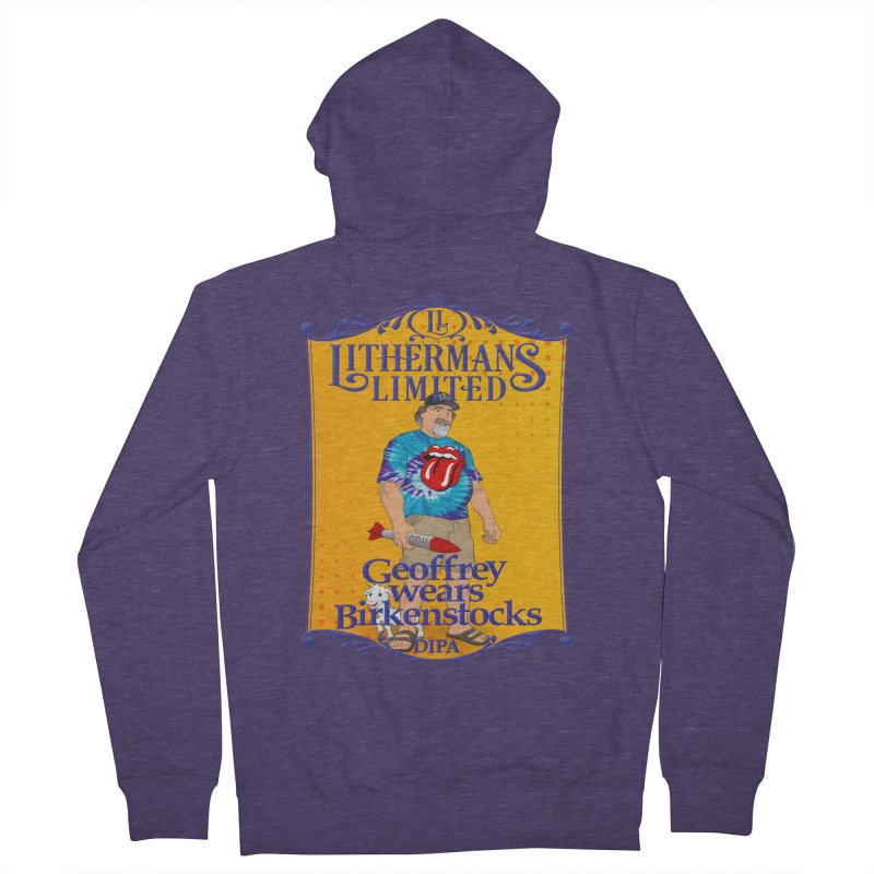 Geoffery Wears Birkenstocks Men's French Terry Zip-Up Hoody by Lithermans Limited Print Shop