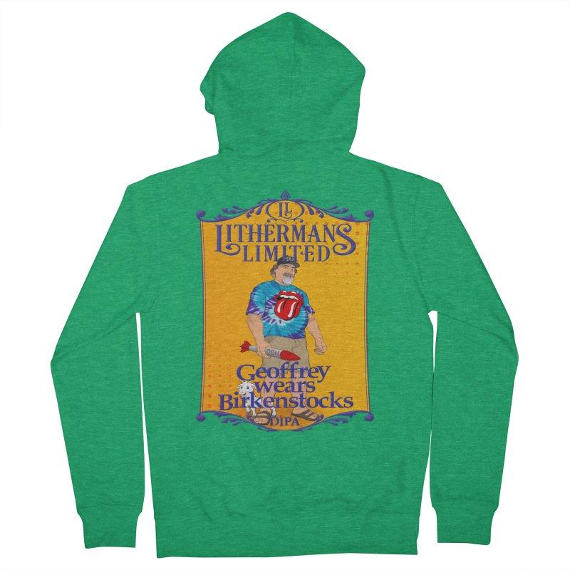 Geoffery Wears Birkenstocks Men's Zip-Up Hoody by Lithermans Limited Print Shop