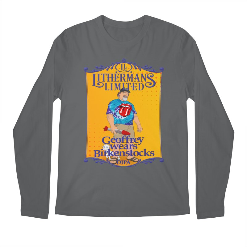 Geoffery Wears Birkenstocks Men's Longsleeve T-Shirt by Lithermans Limited Print Shop