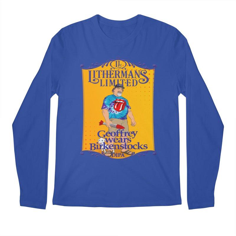 Geoffery Wears Birkenstocks Men's Regular Longsleeve T-Shirt by Lithermans Limited Print Shop