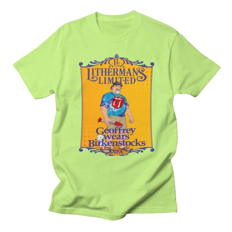 Geoffery Wears Birkenstocks Women's Regular Unisex T-Shirt by Lithermans Limited Print Shop