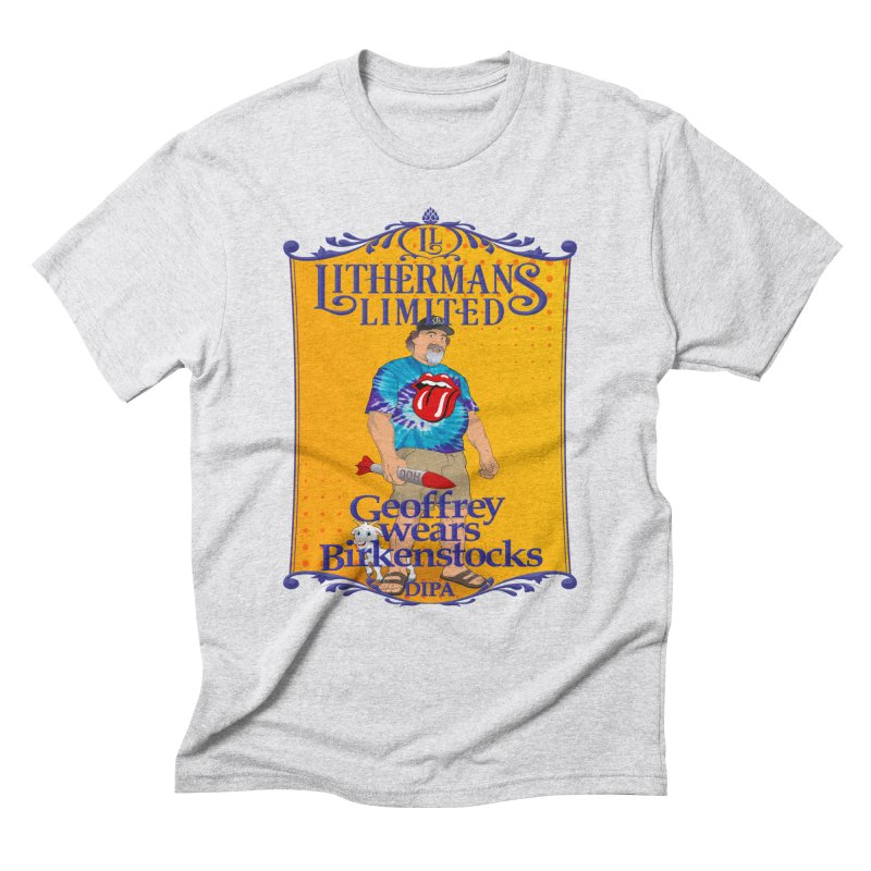 Geoffery Wears Birkenstocks Men's Triblend T-Shirt by Lithermans Limited Print Shop