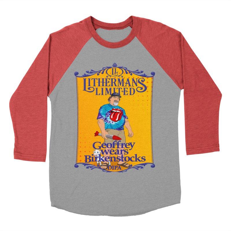 Geoffery Wears Birkenstocks Women's Baseball Triblend Longsleeve T-Shirt by Lithermans Limited Print Shop