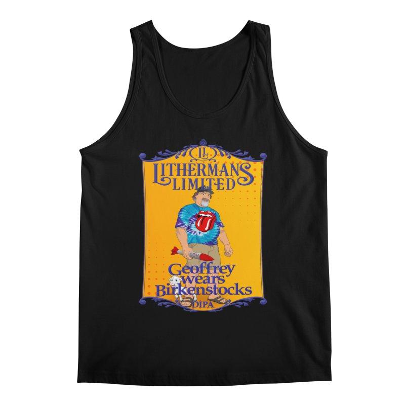 Geoffery Wears Birkenstocks Men's Tank by Lithermans Limited Print Shop
