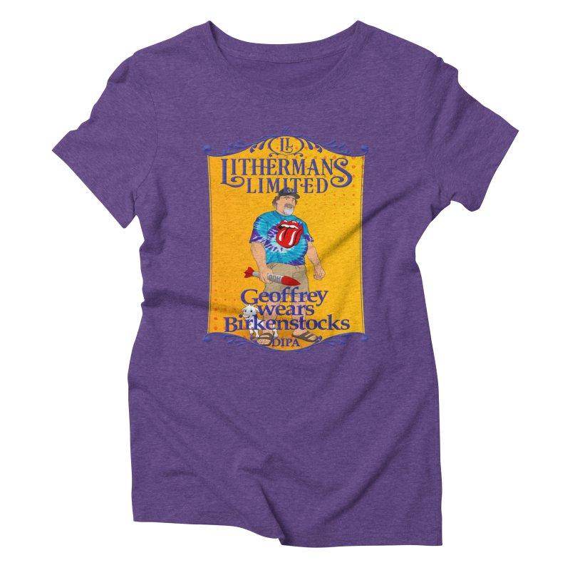Geoffery Wears Birkenstocks Women's Triblend T-Shirt by Lithermans Limited Print Shop