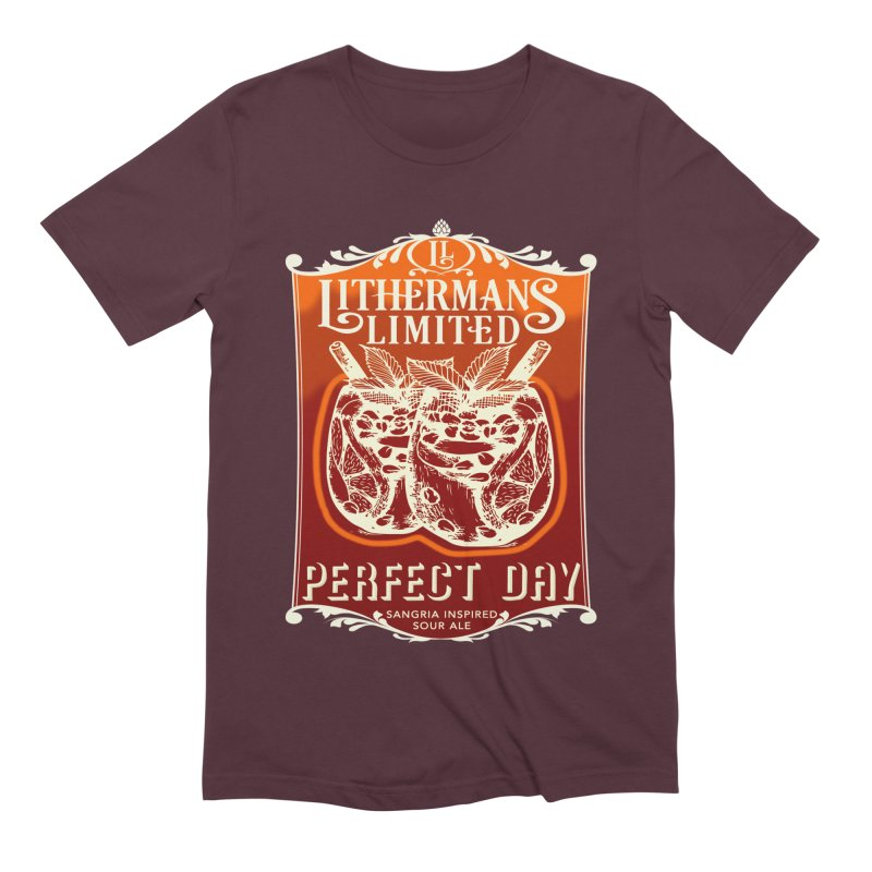 Perfect Day Men's Extra Soft T-Shirt by Lithermans Limited Print Shop