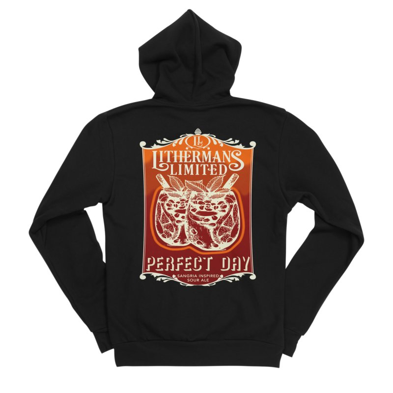 Perfect Day Men's Sponge Fleece Zip-Up Hoody by Lithermans Limited Print Shop