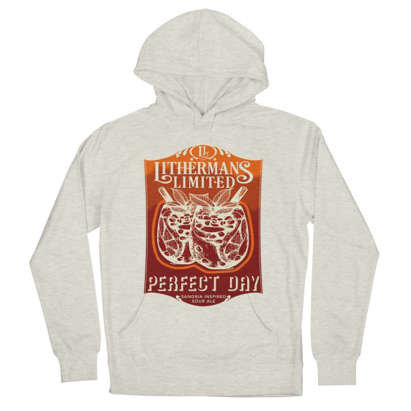 Perfect Day Men's French Terry Pullover Hoody by Lithermans Limited Print Shop