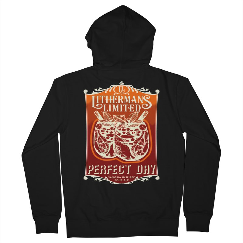Perfect Day Men's French Terry Zip-Up Hoody by Lithermans Limited Print Shop
