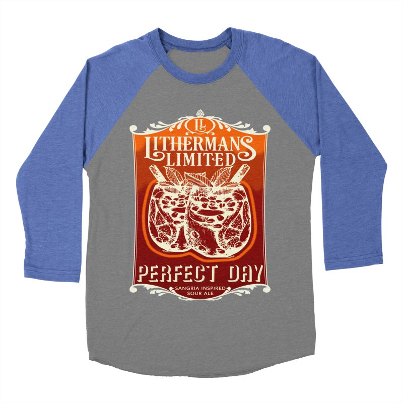 Perfect Day Men's Baseball Triblend Longsleeve T-Shirt by Lithermans Limited Print Shop