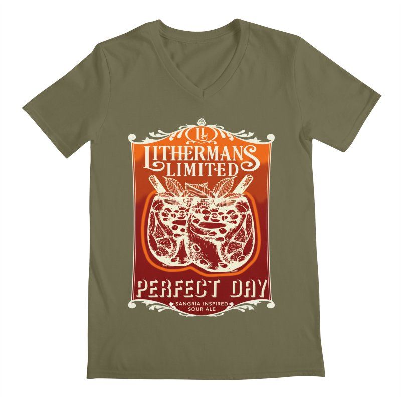 Perfect Day Men's Regular V-Neck by Lithermans Limited Print Shop