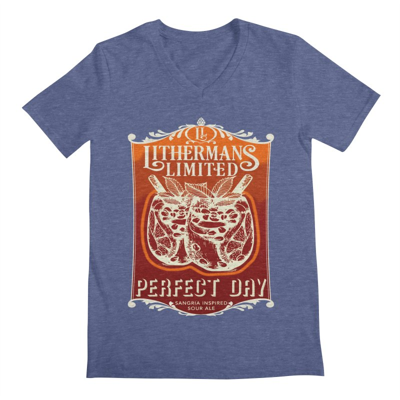 Perfect Day Men's Regular V-Neck by Lithermans Limited Print Shop