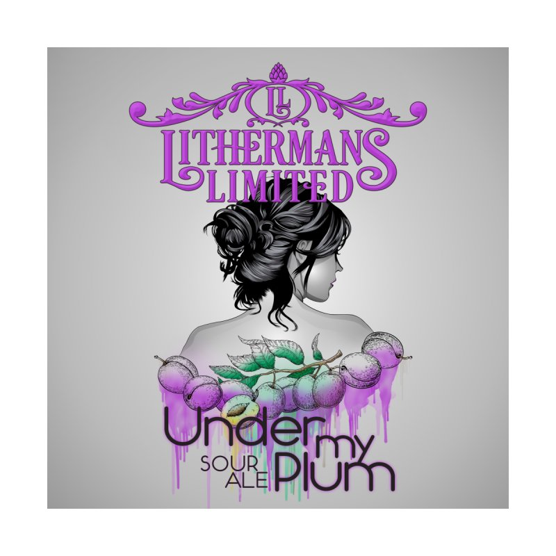 Under My Plum Men's Sweatshirt by Lithermans Limited Print Shop