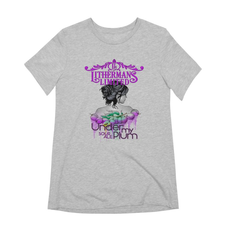 Under My Plum Women's Extra Soft T-Shirt by Lithermans Limited Print Shop