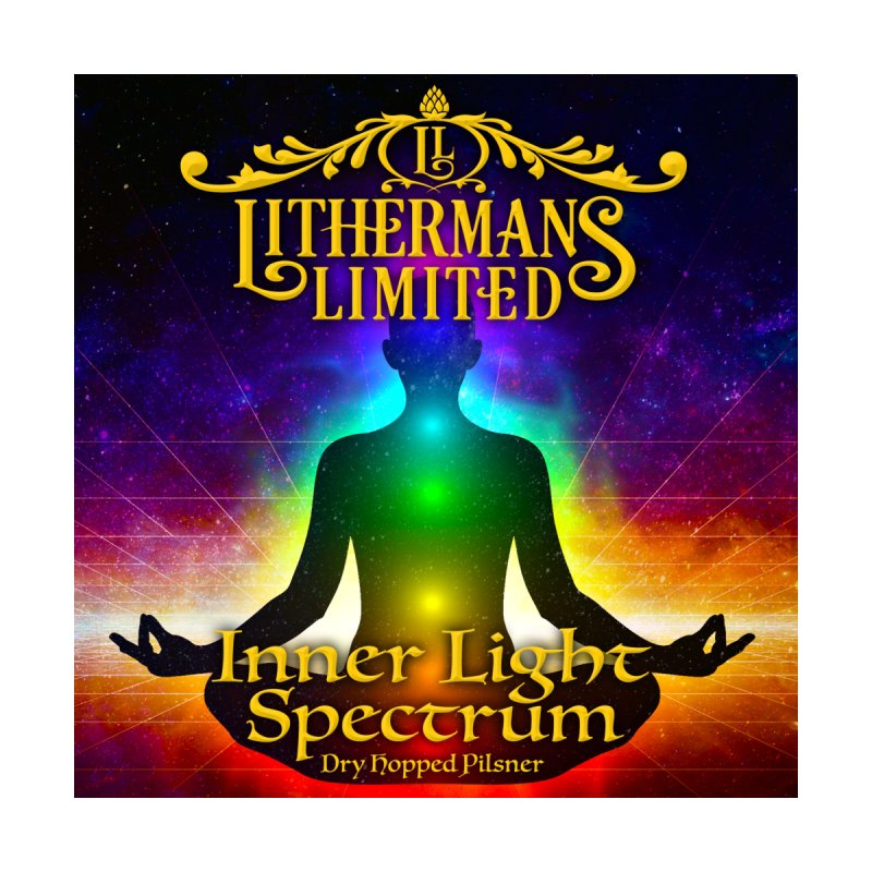 Inner Light Spectrum Men's Zip-Up Hoody by Lithermans Limited Print Shop