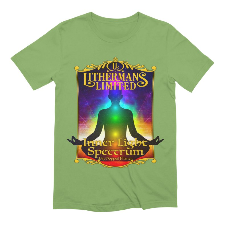 Inner Light Spectrum Men's Extra Soft T-Shirt by Lithermans Limited Print Shop