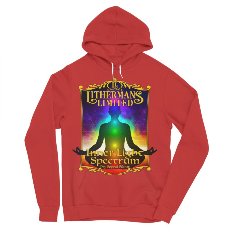 Inner Light Spectrum Men's Sponge Fleece Pullover Hoody by Lithermans Limited Print Shop