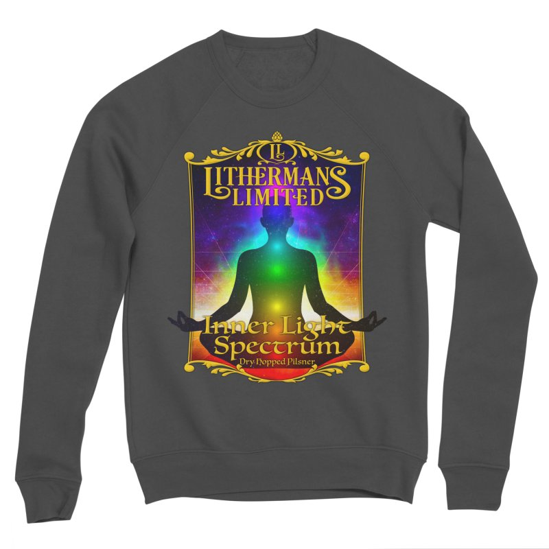 Inner Light Spectrum Men's Sponge Fleece Sweatshirt by Lithermans Limited Print Shop