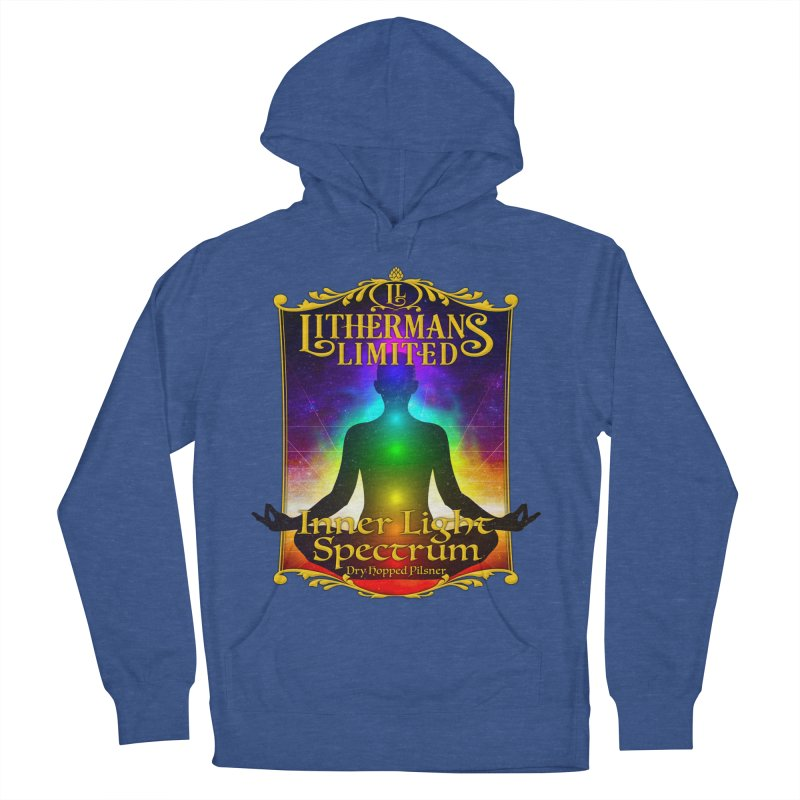 Inner Light Spectrum Men's French Terry Pullover Hoody by Lithermans Limited Print Shop