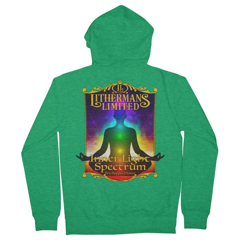 Inner Light Spectrum Women's Zip-Up Hoody by Lithermans Limited Print Shop