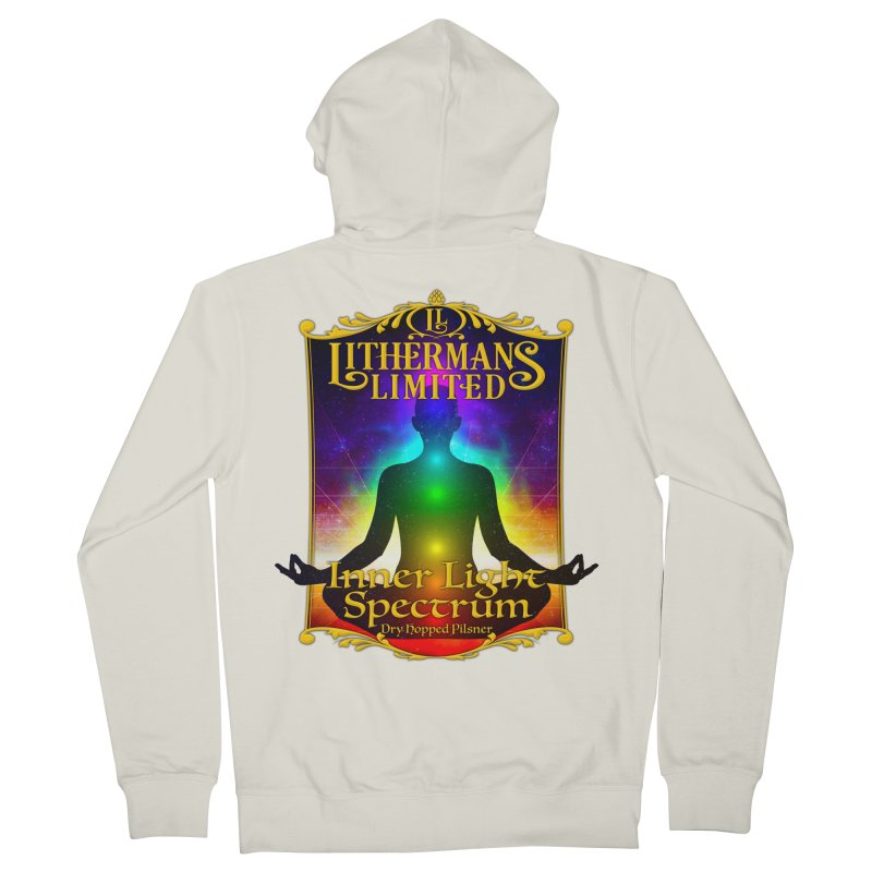 Inner Light Spectrum Women's French Terry Zip-Up Hoody by Lithermans Limited Print Shop