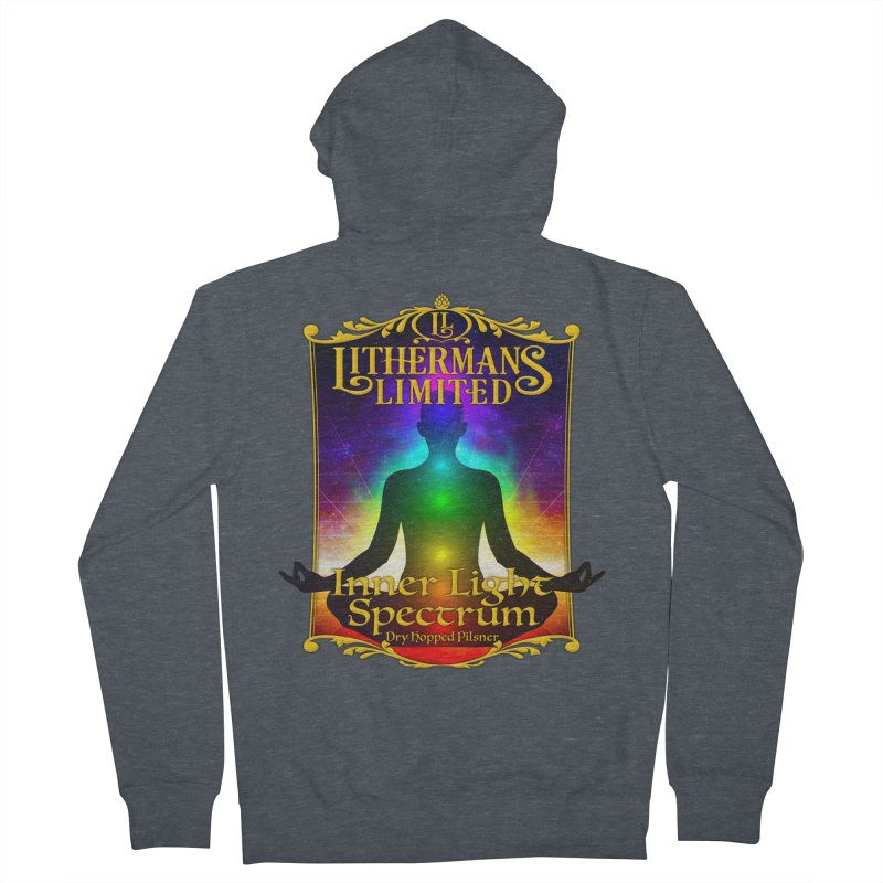 Inner Light Spectrum Men's French Terry Zip-Up Hoody by Lithermans Limited Print Shop