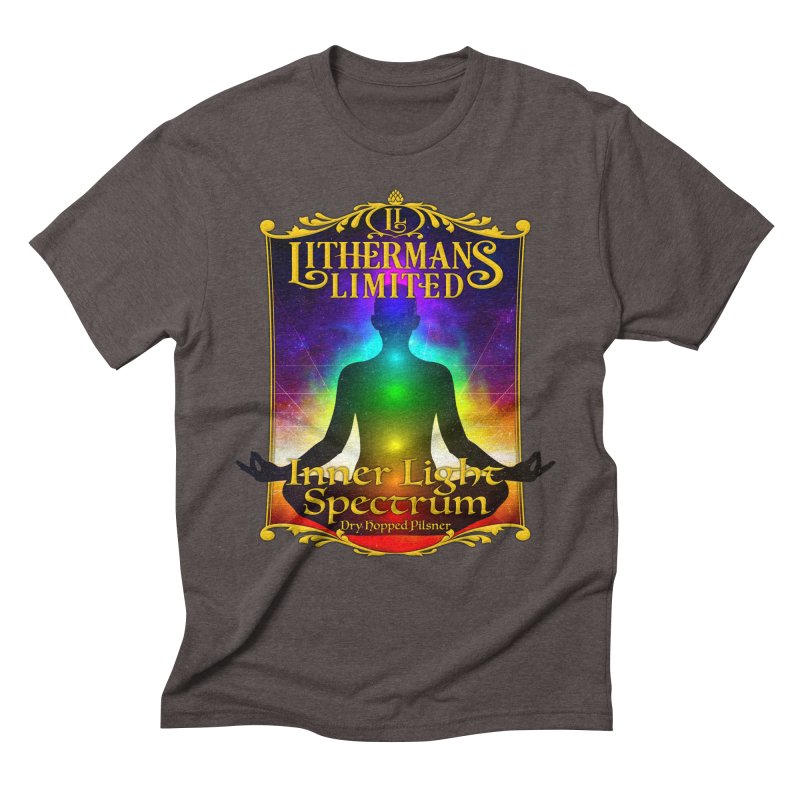 Inner Light Spectrum Men's Triblend T-Shirt by Lithermans Limited Print Shop