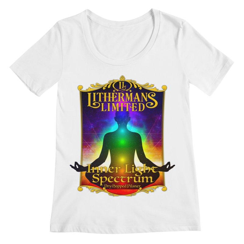 Inner Light Spectrum Women's Regular Scoop Neck by Lithermans Limited Print Shop