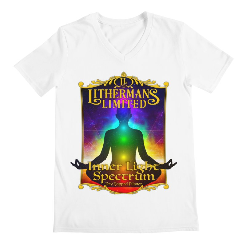 Inner Light Spectrum Men's V-Neck by Lithermans Limited Print Shop