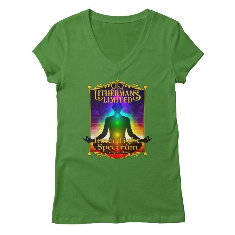 Inner Light Spectrum Women's Regular V-Neck by Lithermans Limited Print Shop