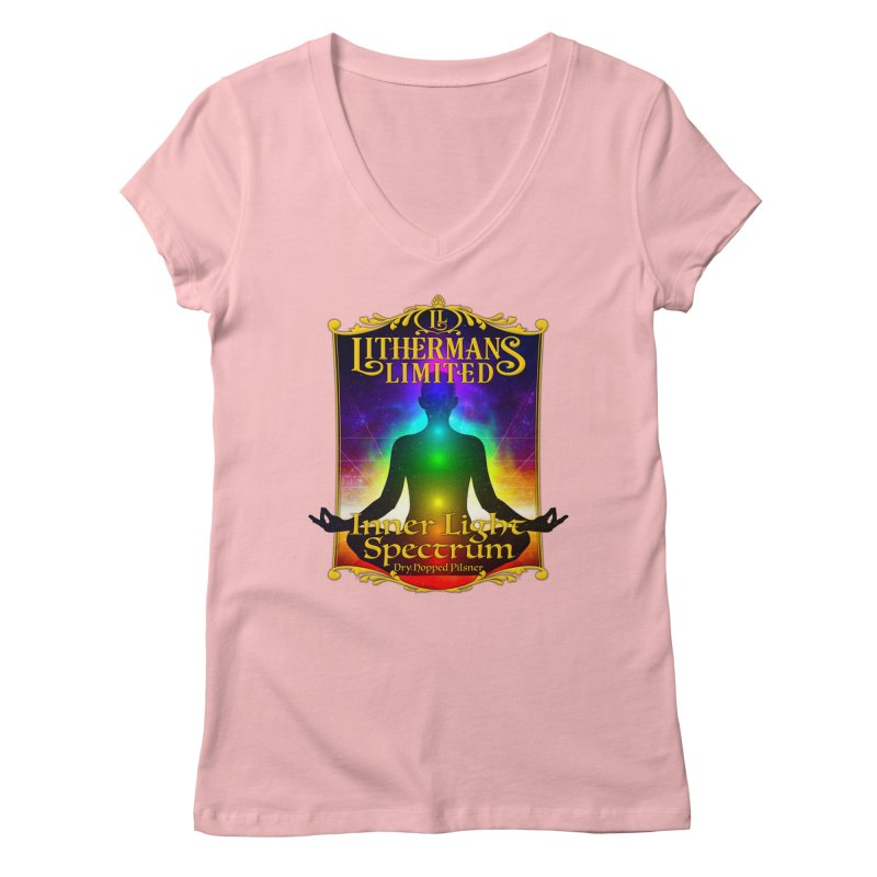 Inner Light Spectrum Women's Regular V-Neck by Lithermans Limited Print Shop