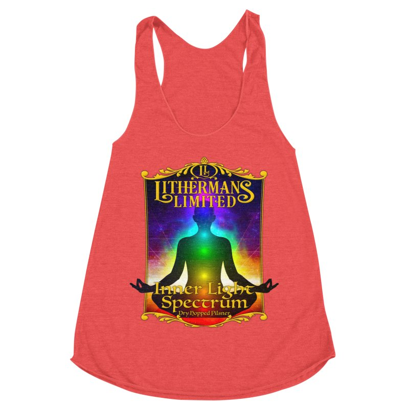 Inner Light Spectrum Women's Racerback Triblend Tank by Lithermans Limited Print Shop